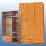Шкаф 3х створ 1275-590-2200мм 7000 руб с накладками  МДФ-7500 руб