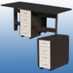 Стол-книжка 3 с ящикамиВысота: 750 Ширина: 800 Глубина: 375-1735 Материал: ЛДСП Цена: 3300 руб.