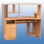 Стол комп.2 с надстройкой 1300-750-1280 мм цена 3900 руб