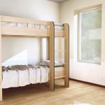кровать двухярусная дуб