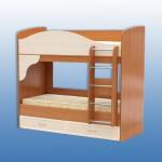 Кровать 2х ярусная размеры в1790 ш 1994 г 870 лесница крепится в любую сторону Цена 8600 руб (без матраса) с матрасами 13600 руб