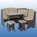 Кухонный уголок ( ткань) 1440*1140мм стол в750*ш900*г600мм 2 табурета Цена 5600 руб