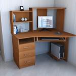 стол компьютерный СК-7 Длина : 1200 мм Глубина : 900 мм Высота : 1320 мм Цена: 4250 руб Цвет: ольха