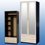 Шкаф 2-дв 2200/850/590мм  с 2 мал.зеркалами цена: 8400 руб с проф.мдф 8800 руб