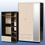 Шкаф 3-дв 2200/1275/590мм с 1 бол.зеркалом цена: 8900 руб с проф.мдф 9100 руб