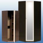 Шкаф угловой с зеркалом 885/885/2200мм цена: 7300 руб с проф МДФ 7500 руб